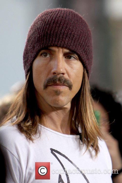 Red Hot Chili Peppers film an interview for...