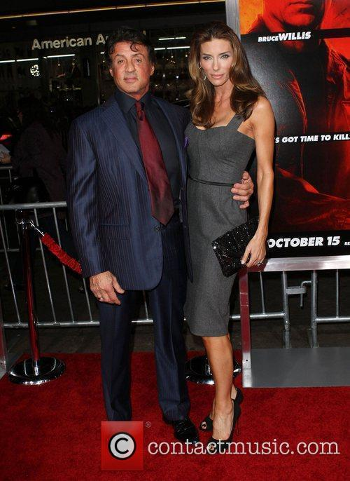 Sylvester Stallone and wife Jennifer Flavin special screening...