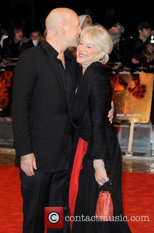 Bruce Willis and Helen Mirren The UK premiere...