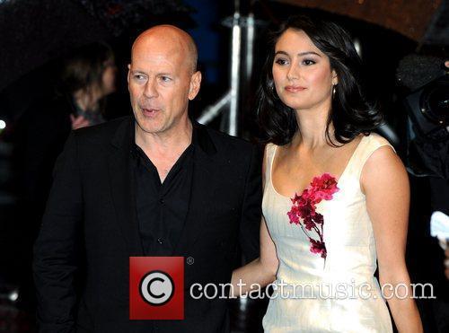Bruce Willis and Emma Heming The UK premiere...