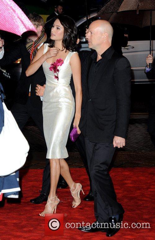 Emma Heming and Bruce Willis The UK premiere...