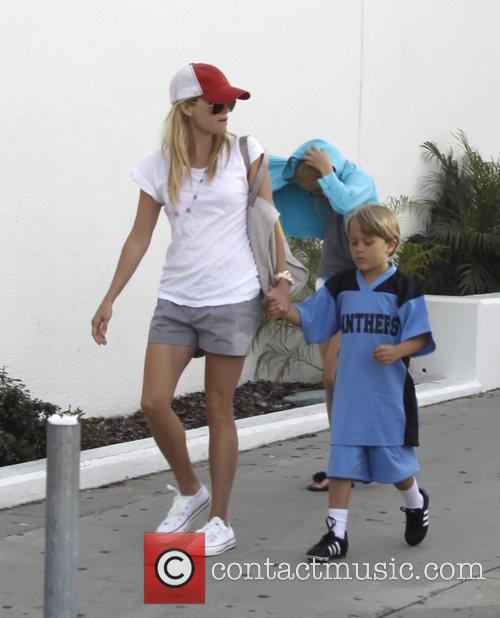 Reese Witherspoon and son Deacon Phillipe going shopping...