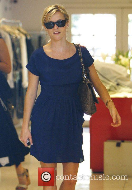 Reese Witherspoon  goes shopping in West Hollywood...