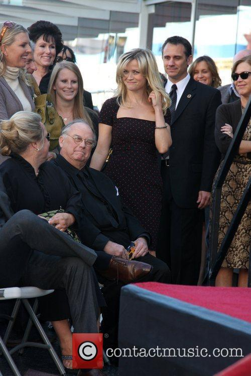 Reese Witherspoon Hollywood Walk Of Fame Star Induction...