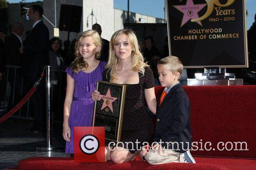 Actress Reese Witherspoon and her children, daughter Ava...