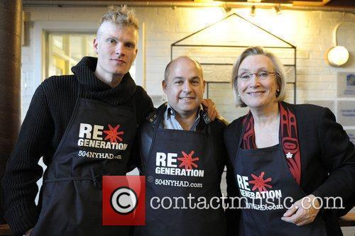 Ryan Guldemond, Robert Blumenthal and Honourable Carolyn Bennett...