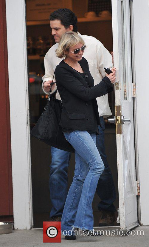 Leaving Brentwood Mart after having a coffee with...