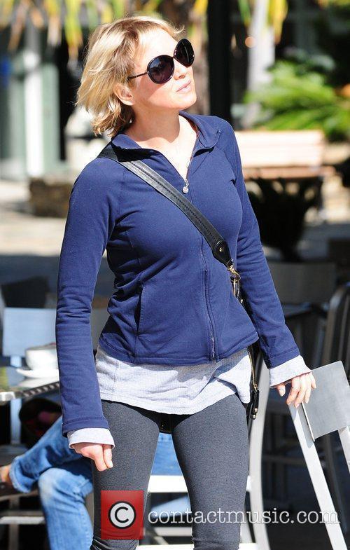 Renee Zellweger wearing sports gear in Brentwood.