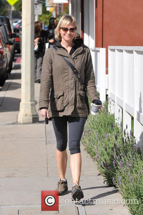 Renee Zellweger in gym wear heads home after...