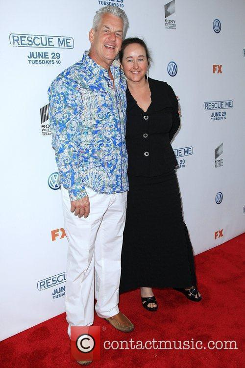Lenny Clarke and guest 'Rescue Me' Season 6...