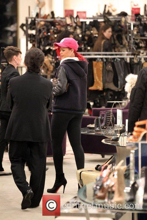 Rhianna  out shopping for shoes at the...