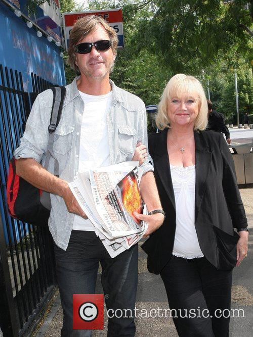 Richard Madeley and Judy Finnigan outside the ITV...