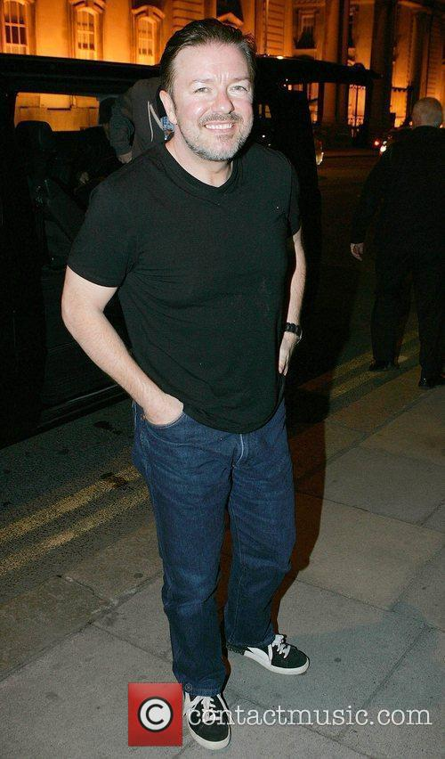 Ricky Gervais arriving at the Merrion Hotel following...