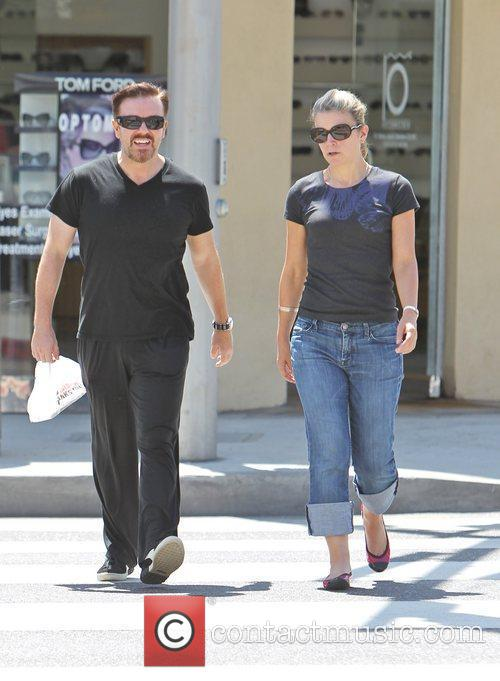 Ricky Gervais and his wife Jane Fallon are...