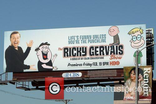 Billboard promoting his new TV show in Hollywood