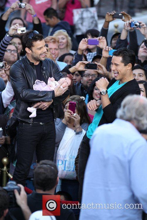 Ricky Martin, Mario Lopez and Gia Francesca Lopez...