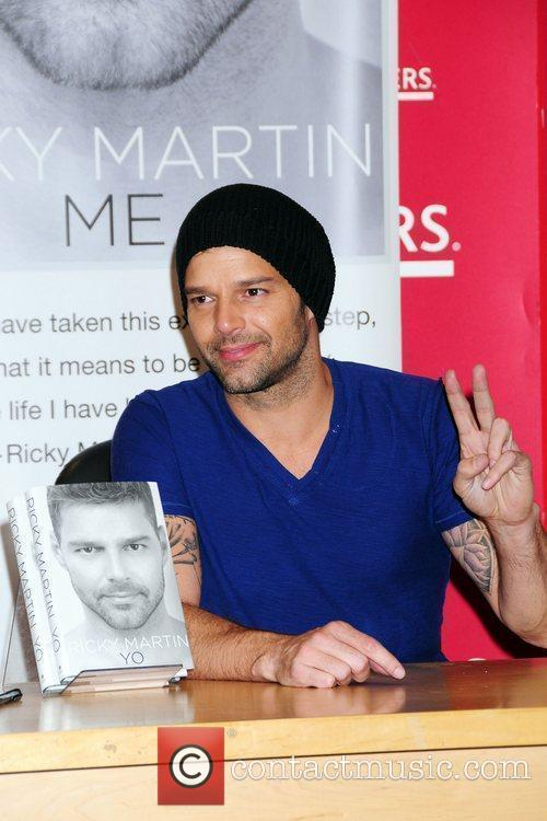 Ricky Martin  signs copies of his memoir...