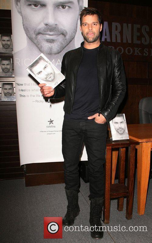 Ricky Martin  Ricky Martin signs copies of...
