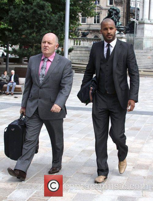 Ricky Whittle  arriving at Liverpool Crown Court...