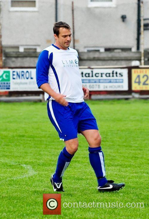 Ex-Hollyoaks star Jamie Lomas plays in a charity...
