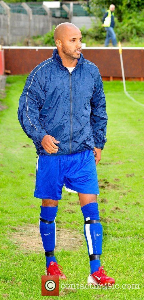 Ex-Hollyoaks star Ricky Whittle plays in a charity...
