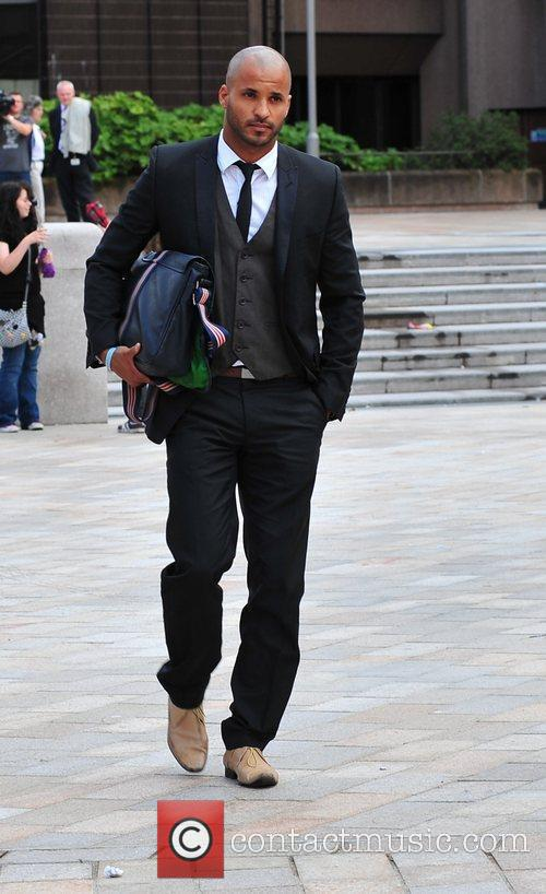 The 'Hollyoaks' actor leaving Liverpool Crown court, where...