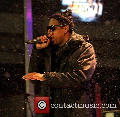 Rapper Jay-Z performing during a taping for 'New...