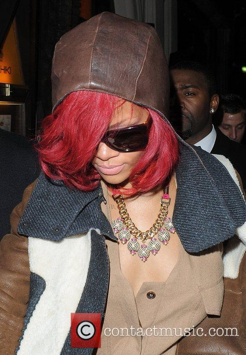 Rihanna leaving Mahiki nightclub at 3.30am.