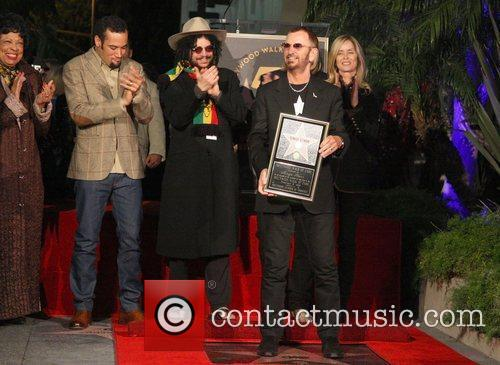 Former Beatle, Ringo Starr receives a star at...