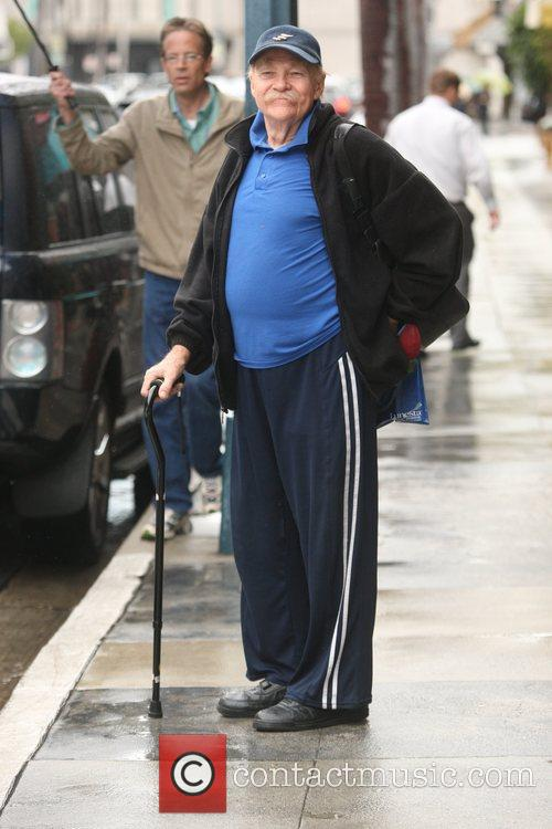 American comedian and actor leaving a medical centre...