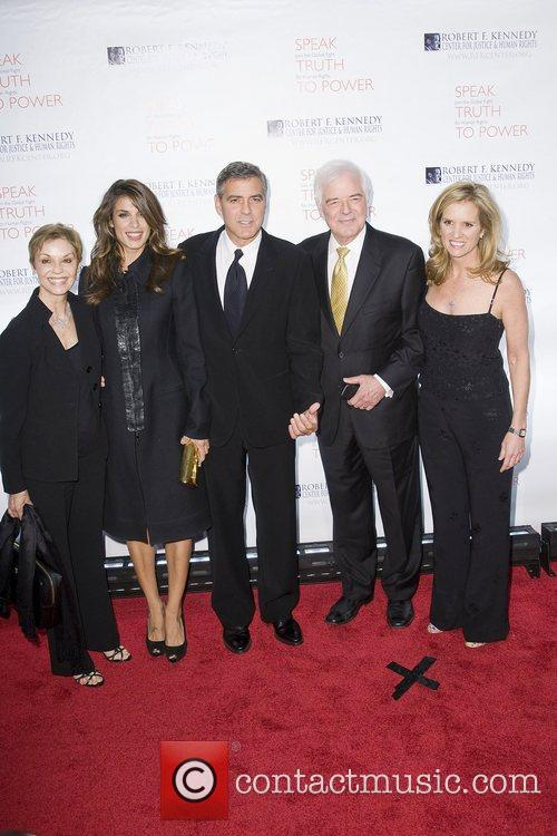 Elisabetta Canalis, George Clooney, Justice, Kerry Kennedy and Robert F Kennedy 2
