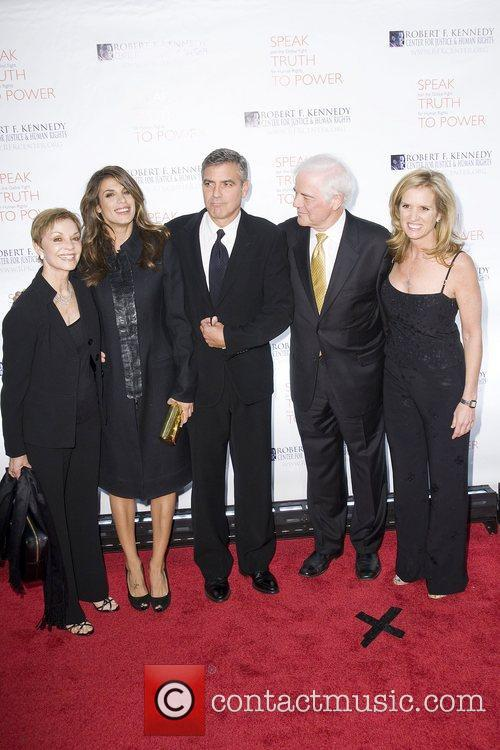Elisabetta Canalis, George Clooney, Justice, Kerry Kennedy, Nick Clooney and Robert F Kennedy 5