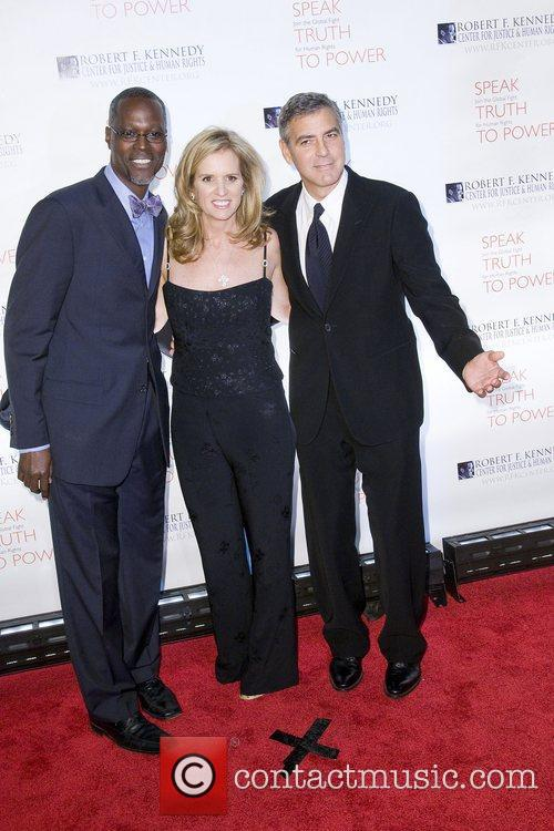 Guest, Kerry Kennedy and George Clooney at the...