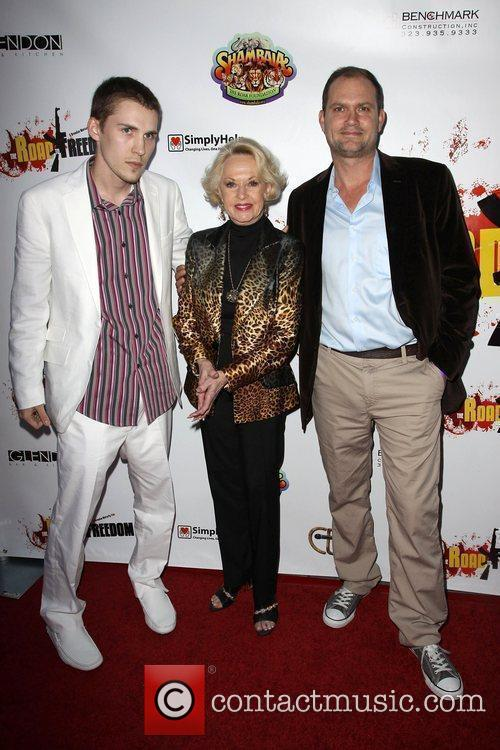 Director, Brendan Moriarty, Tippi Hedren, Producer and Blu De Golyer 4