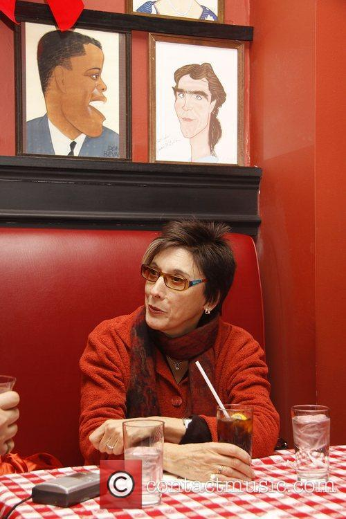Theatre producer Robyn Goodman is interviewed at Sardi's...