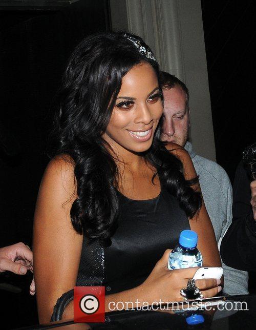 Rochelle Wiseman leaving Chinawhite nightlub carrying a bottle...