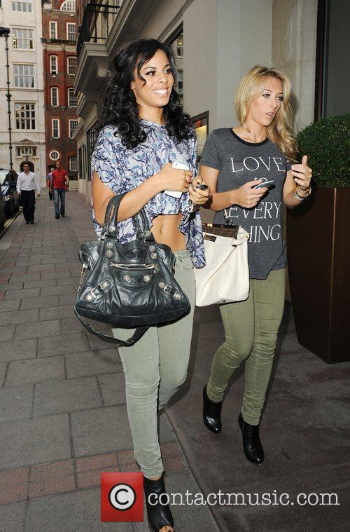 From The Saturdays and a friend are seen...
