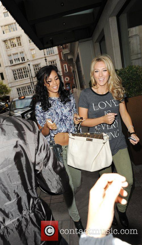 Rochelle Wiseman from The Saturdays and a friend...