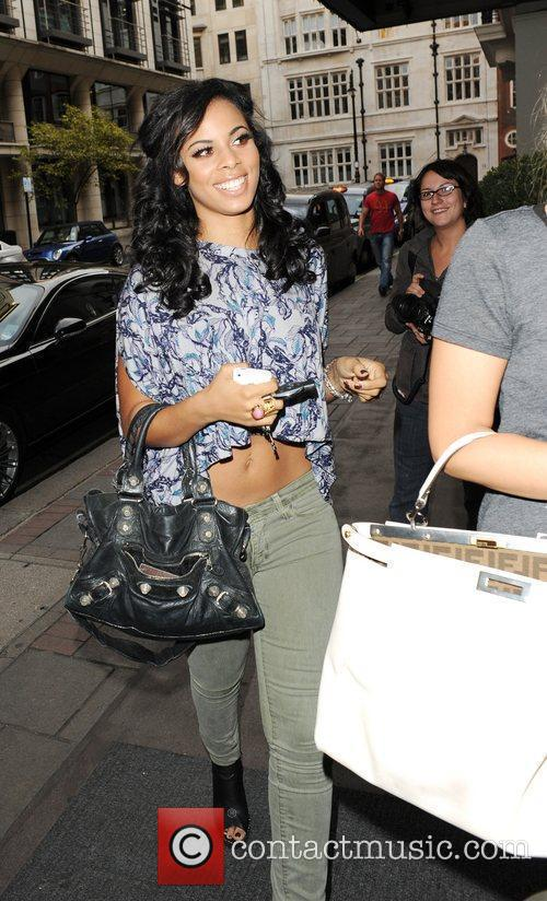 Rochelle Wiseman from The Saturdays is seen arriving...