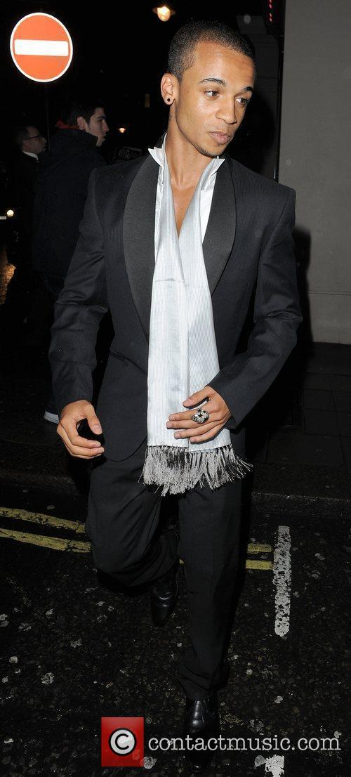 Aston Merrygold from JLS arrives at the 21st...