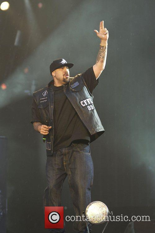 B-Real Cypress Hill performing live in concert during...