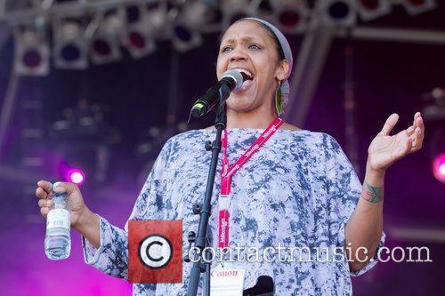 Julie McKnight performing at Rock In Rio Lisboa...