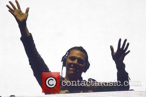 DJ Tiesto performing live on the 4th day...