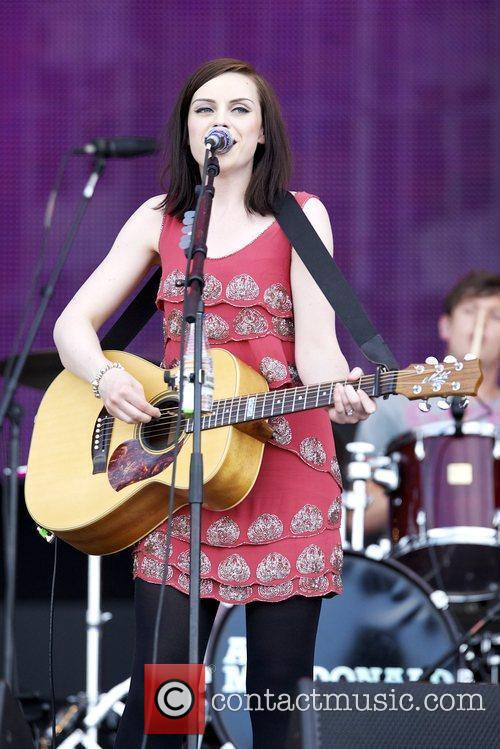 Amy McDonald performing live on the third day...