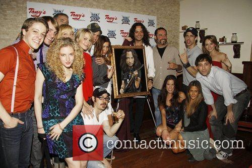 Constantine Maroulis, James Carpinello, Cast Attending The Portrait Unveiling, Party To Honor Constantine Maroulis and The Cast Of The Broadway Musical 'rock Of Ages' On Their First Anniversary Held At Tony's Di Napoli Restaurant