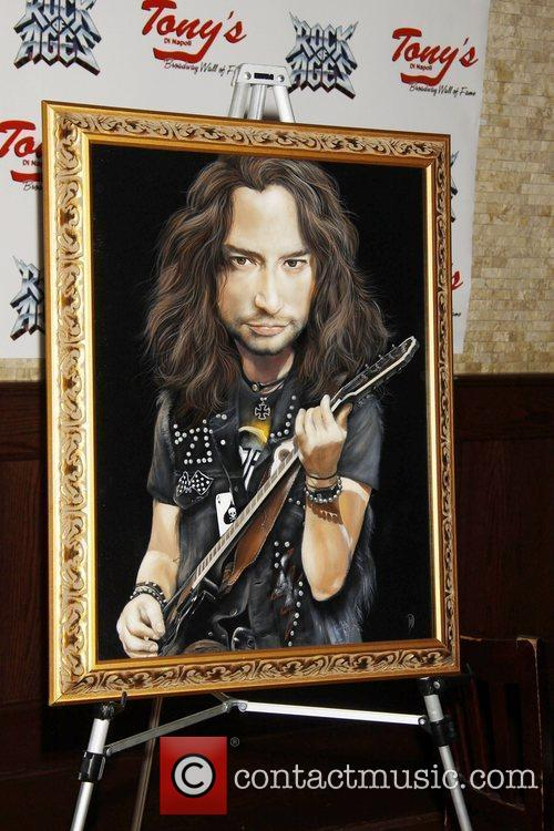 The portrait unveiling and party to honor Constantine...