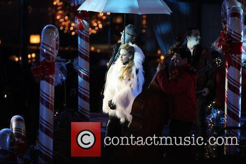 Kylie Minogue performs at the Rockefeller Center Christmas...