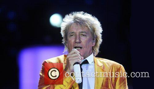 Rod Stewart  performing at the O2 Arena....