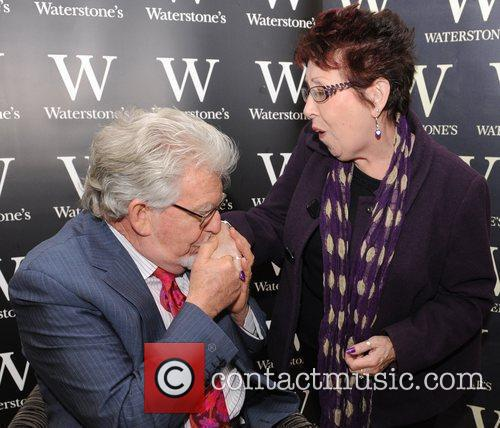 Rolf Harris at a book signing for his...