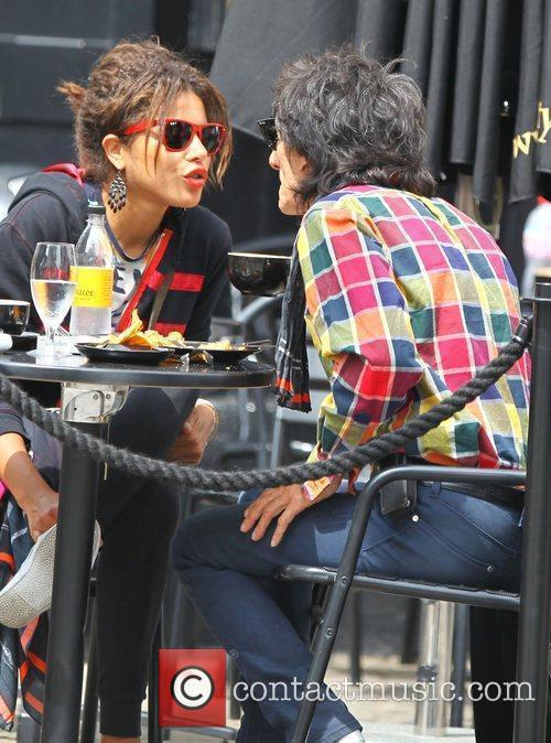 Ronnie Wood and Ana Araujo 1